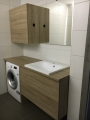 modern laminált fürdőszoba bútor