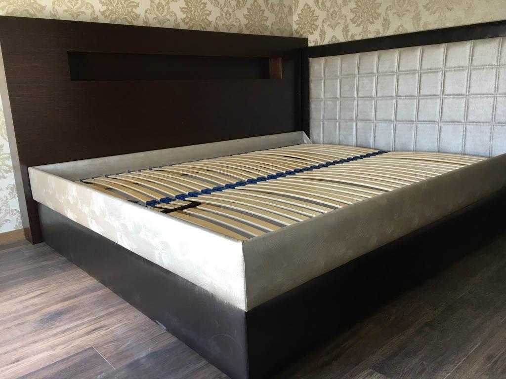 wenge furnérozott ágy fejvég