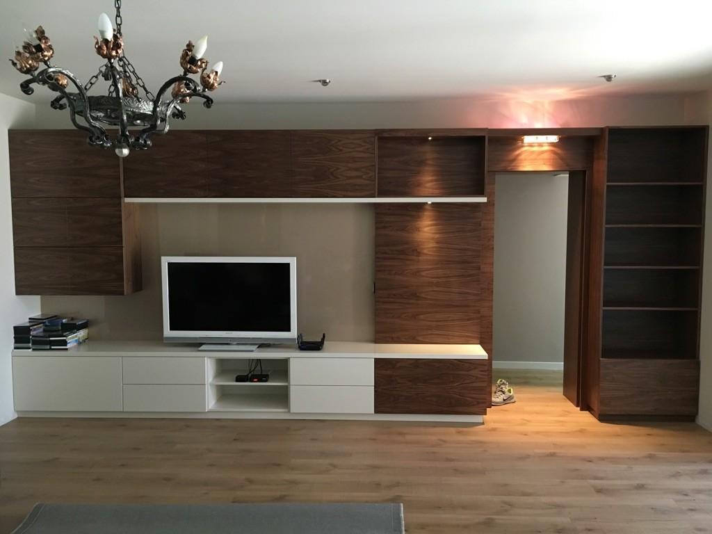 dió színfurnérozott modern nappali bútor